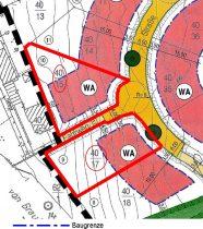 Grundstücke mit Baugrenzen